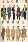 1937 illustration of college men's fashions from FIT Library and Archives.