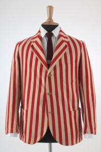 Red and white cotton flannel blazer, c.1928. Museum at FIT purchase.