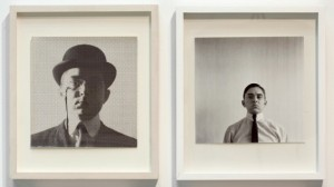 George Maciunas, Self-Portrait, 1961/2012. Installation view. Source: Jonas Mekas Visual Arts Center.