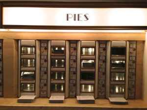 Installation view of the pie section of the historic Automat