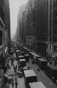 West 35th Street in 1938, looking east between Seventh and Eighth Avenues. Source: NYC Department of Records, Municipal Archives