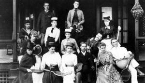 Alice Austen's photo of Tennis Clothing (1893). Source: Alice Austen House