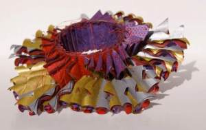Luis Acosta's 2009 bracelet is made of six layers of stitched paper. Photo: Luis Acosta