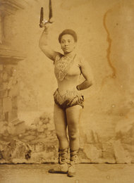 Photograph of the artist, Miss La La (c. 1880). Albumen silver print. Source: Zimmerli Art Museum, Rutgers University