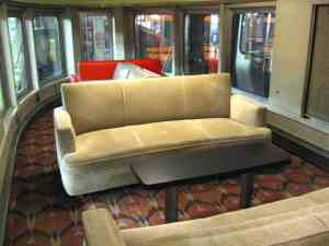 Front of the streamlined Hickory Creek sleeper-observation lounge car (1947) for the 20th Century Limited.