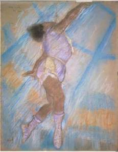 A vibrant pastel study of the artist by Mr. Degas. Source: Tate, London/Art Resource, NY