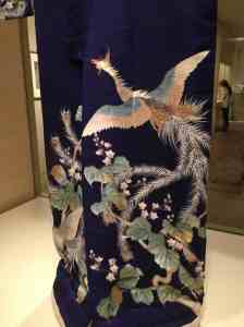Kimono embroidery detail. What did the Phoenix signify to this 19th c. bride?