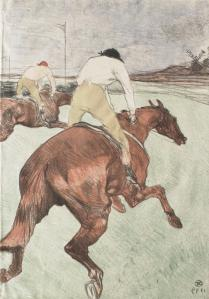 Toulouse-Lautrec, The Jockey, 1899. Color-printed lithograph on cream wove paper
