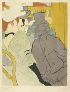 Toulouse-Lautrec, The Englishman at the Moulin Rouge, 1892. Color-printed lithograph