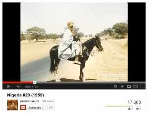 The Penn Museum's Top Anthropology Video of 2012 features a sheik among many other people and places in 1959 Nigeria