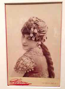 Carmencita's fan photo (c. 1890). Source: NYPL Billy Rose Collection