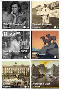 A few of the Flickr sets from Library of Congress