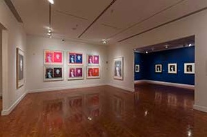 Room full of Munch Madonna prints seen from gallery with Warhol silkscreens of same. Eileen Travell's photo for Scandinavia House/The American-Scandinavian Foundation, 2013