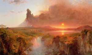 Frederic Edwin Church's depiction of the volcanic eruption in Ecuador -- Cotopaxi, painted in 1862 and exhibited the following year. Source: Detroit Institute of Arts.