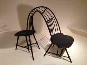 Steam-bent ash chairs by Christopher Kurtz