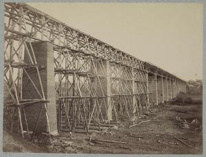 Timothy O'Sullivan's 1865 photograph, High Bridge, Appomattox, Va. from Gardner's Photographic Sketch Book of the War [c1866] Source: Library of Congress