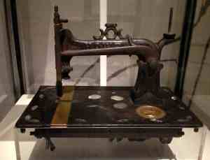 An 1875 Howe Sewing Machine by the inventor of the sewing machine, Elias Howe.