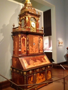 Mr. Roentgen's Berlin Secretary Cabinet, the viral NYC museum YouTube sensation, awaiting visitors in Met Gallery 553