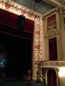 Detail of Thalian Hall's beautifully restored proscenium and box