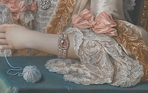Check out the detail on Coypel's lace.