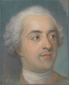 La Tour's 1745 small pastel, Préparation for a Portrait of Louis XV, gives royalty the natural treatment
