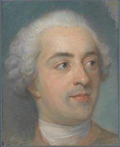 La Tour's 1745 small pastel, Préparation for a Portrait of Louis XV, gives royalty the natural treatment