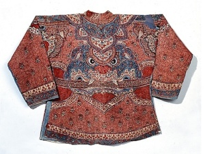 The King of Siam's royal 18th century guard wore these resist-dye tunics. Fabrics were made in India and tailored in Siam. Source: Royal Ontario Museum, Toronto
