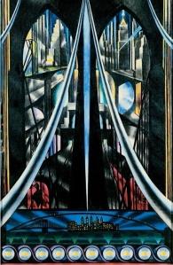 A Joseph Stella masterpieces: The Brooklyn Bridge: Variation on an Old Theme, 1939.