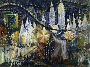 Stella's 1913 take on the magic of Coney Island's main attraction, Luna Park