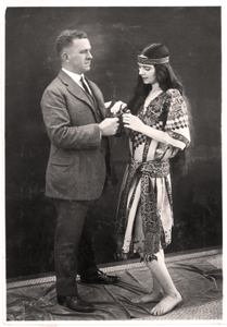 M. D. C. Crawford, co-founder of the Costume Institute,  with artist-designer Ilonka Karasz (1916-1919) Courtesy: Brooklyn Museum Archives.