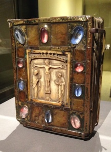 In the late 12th c., Bernward of Hildesheim, commissioned a dazzling new cover for the Gospel Book, which dates from the late 900s