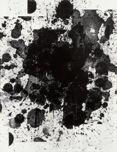 Wool's untitled 2000 work, silkscreen on linen on the top-floor gallery. © Christopher Wool