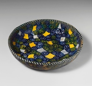 This mosaic glass dish may look like Italian 1980s, but it's Greek from the 2nd-1st century B.C. Source: The Met