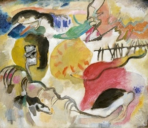 He had to have it. Stieglitz bought Kandinsky's 1912 The Garden of Love (Improvisation Number 27) as soon as he saw it. Source: Metropolitan Museum/ © 2011 Artists Rights Society (ARS), NY / ADAGP, Paris