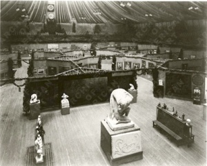 The International Exhibition of Modern Art (a.k.a. Armory Show) installed in the 69th Regiment Armory at 25th & Lexington. Source: Smithsonian Archives of American Art, Kuhn family papers.