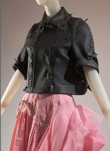 From Rei Kawakubo's 2005 Biker + Ballerina collection (leather, gingham, and tulle) for Comme des Garcons. Source: FIT.