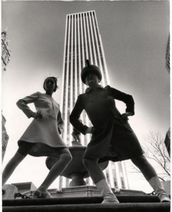 Bill Cunningham's take on modern fashions at the 1968 GM Building
