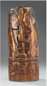 Hina and Fatu (c. 1892) Carved tamanu wood. Courtesy: Art Gallery of Ontario, Toronto © 2013 AGO