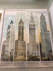 Illustrations of the world's tallest skyscrapers in 1899 to 1918, all in Manhattan.