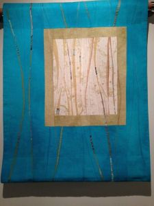 Abstract Second Prize quilt by Beth Carney of Yonkers, Chasms 16: Under the Stars