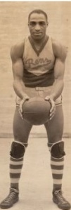 "Charles ""Tarzan"" Cooper (1907-1980), the star center who won the World Pro Basketball Tournament championship with the Rens in 1939. Photo: courtesy Black Fives Foundation."