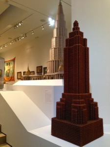 Empire State Building, carved in New Jersey in 1931 from precious cherry wood. Auriti's Palace is just behind.