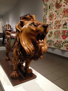 Brooklyn's Lion, carved in 1910 by Marcus Charles Illions, who worked at the carousel shop and later set up his own studio