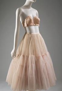 1949 overwire and a 1951 nylon net and silk taffeta petticoat from Dior.