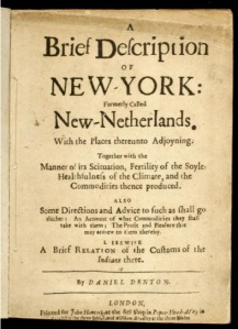 New York's first guide book from 1640