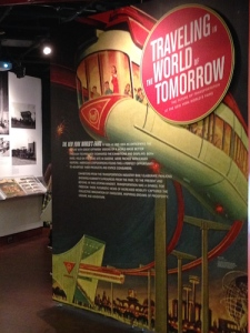 Entrance to the show, featuring the 1964 monorail, transport of the future