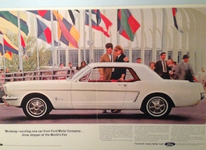 The 1964 car that everyone wanted — the Ford Mustang, which debuted at the fair