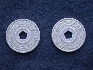 Subway tokens (1995-2003). Source: NYHS