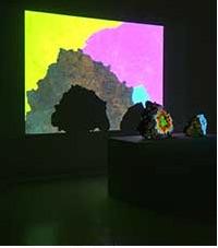 "Lava rocks ""talk"" in Egill Sæbjörnsson's Pleasure Stones installation (2008) on loan from private collector. Courtesy: The artist."