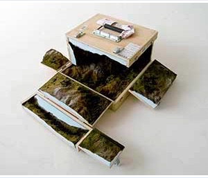 Katrín Sigurðardóttir, Haul IV (2004) travelling landscape-in-a-box on loan from private collector. Courtesy: The artist.
